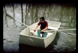 David Haldeman on River in New Boat Summer 1958